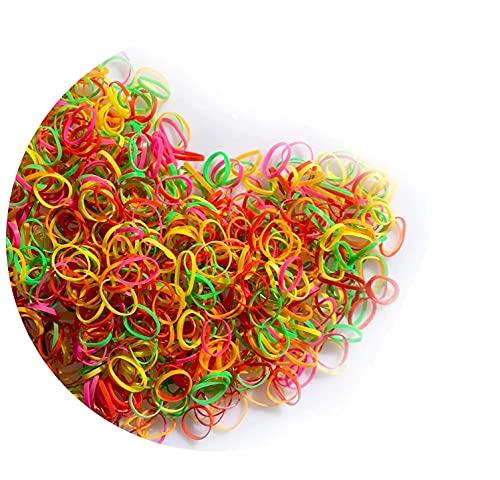 Sunnysam 1000 Mini Multicolore Elastici Gomma Elastico Morbidi per Bambini Capelli, Trecce Capelli, Acconciatura da Sposa e di più