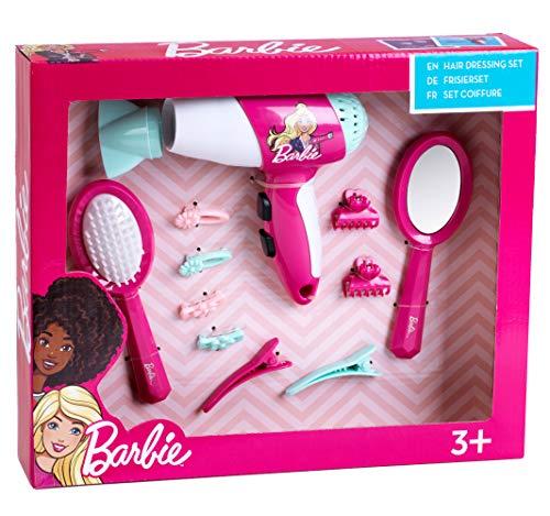 Theo Klein 5790 - Barbie Set Parrucchiere Con Fon E Accessori