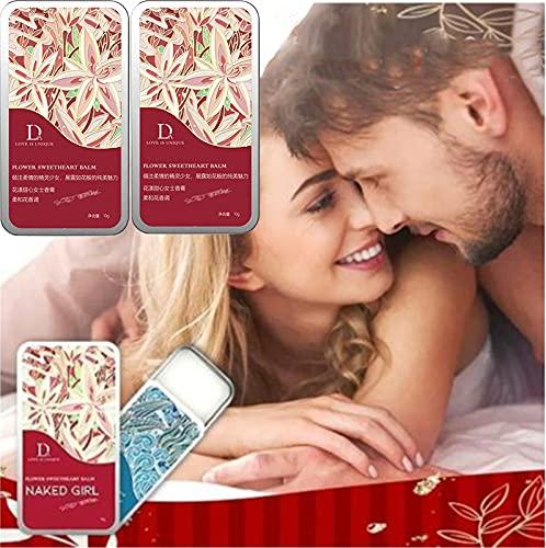 Bellunamoon Romance Pheromone Perfume, Profumo di Balsamo Solido, Balsamo Dell'innamorato di Fiori, Profumo Solido di Ogni Notte Dolce Originale per Uomini e Donne Regalo (Red)