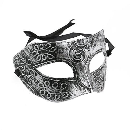TINKSKY Masquerade viso maschera uomo romano per Costume Halloween a sfera in argento