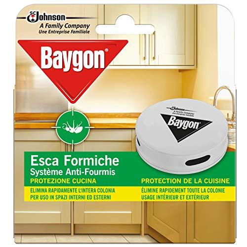 Baygon Esca Insetticida Formiche Pronta all'Uso, Protezione Cucina 30 g - Confezione da 1 Esca per Uso in Spazi Interni ed Esterni