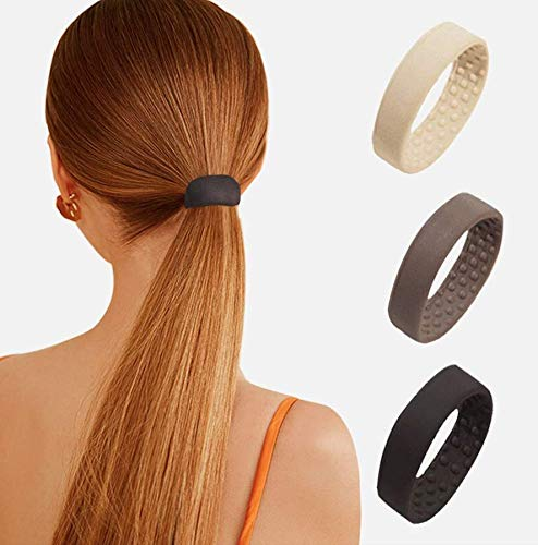 Fasce per Capelli Elastica Fasce elastiche per capelli in silicone Cerchietti per coda di cavallo, Elastico pieghevole per coda di cavallo per donne e ragazze