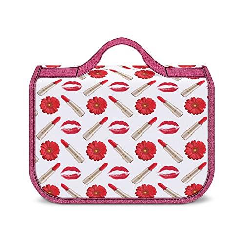 Borsa Da Viaggio Rossetto Con Stampa Bacio Rosso Borse Cosmetiche Impermeabili Per Il Trucco Da Viaggio