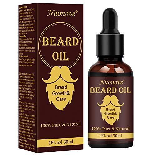 Olio da Barba, Beard Growth oil, Beard Oil, Olio Essenziale Di Oli Da Barba Per Uomo, Migliore per La Crescita della Barba, Ammorbidire, Idratare, Rinforzare e Manutenzione 30 ml