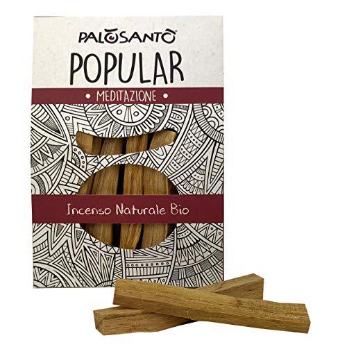 Palo Santo Legnetti - Popular Ayabaca - Raccolti in Modo Etico e Sostenibile - Confezione Convenienza 80 Gr. - Palo Santo Incenso Originale in Paletti - Legno Naturale 100% Bursera Graveolens Perù