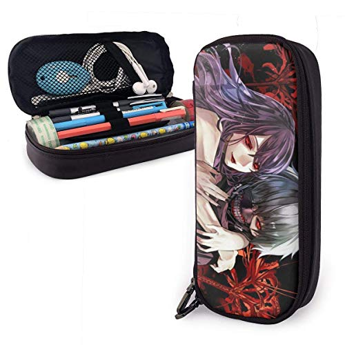 astuccio Borsa Tokyo Ghoul Beauty PU Leather Pencil Case Pen Makeup Box Student Boxes,Office Pen Pencil Case Bag,Pouch Stationary Case Makeup Cosmetic Bag