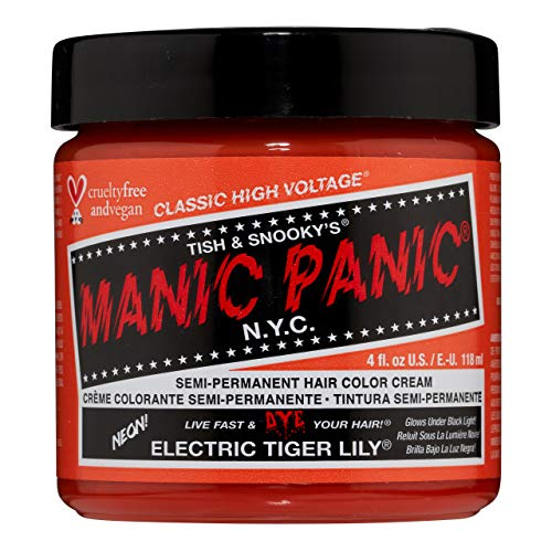 Manic Panic - Elec Tiger Lily Classic Creme Vegan Cruelty Free Semi-Permanent Hair Colour 118ml