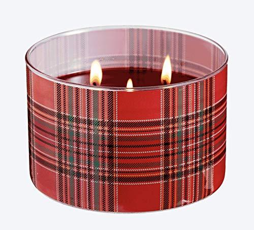 PartyLite - Barattolo per candela tartan autunnale