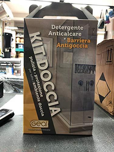 GEAL KIT DOCCIA Pulizia e Protezione per tutto l'Ambiente Doccia, Formato da 0,75 Litri + Panno Microfibra + Spugna Magica