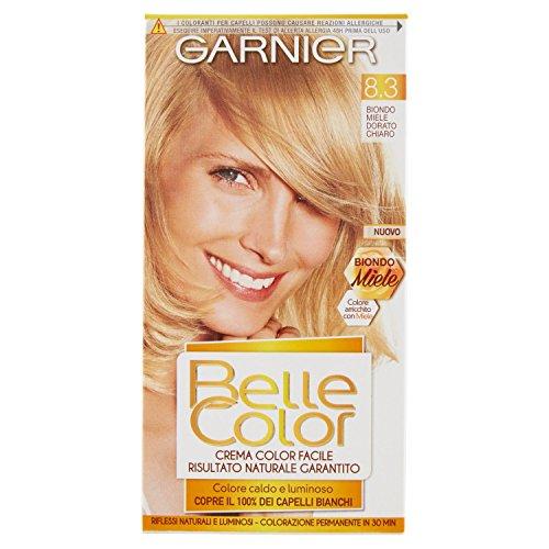 Garnier Colorazione Permanente per Capelli Belle Color, Risultato Naturale e Luminoso, 8.3 Biondo Miele Dorato Scuro