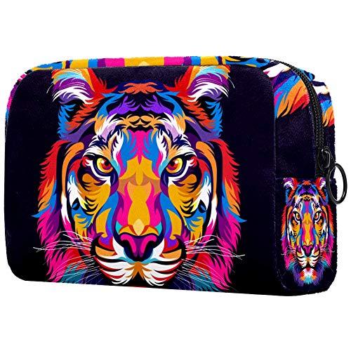 Tiger - Beauty case portatile per trucchi e trucchi