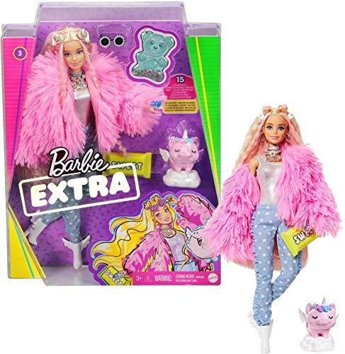 Barbie Extra Bambola con Bionda, Cucciolo, Vestiti alla Moda e 10 Accessori, Giocattolo per Bambini 3+ Anni, GRN28