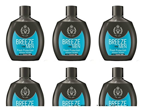 6 X Deodoranti Breeze Men Fresh Protection Deodorante corpo per uomo no gas 48h
