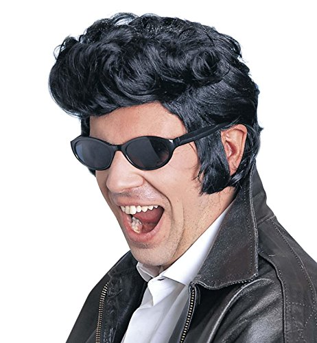WIDMANN S.R.L.Parrucca 'Rock and Roll' Modello Elvis, Nero