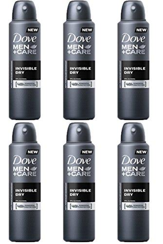 6 X Dove MEN + CARE INVISIBLE DRY SPRAY Deodorante Corpo Uomo MEN+CARE
