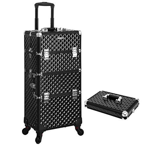 Songmics® Trolley Make up Beauty Case Nail Art Valigia Cofanetto Porta Gioie Smalti Oggetti JHZ04B