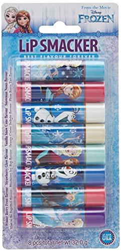 Lip Smacker - Disney's Frozen Collection - Burrocacao per Bambini - Lip Smacker Disney's Frozen Party Pack - Confezione da 8 Burrocacao