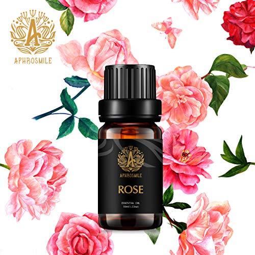 Aromaterapia Olio essenziale rosa, 100% puro rosa olio essenziale profumo per diffusore, umidificatore, massaggio, grado terapeutico olio profumato rosa per casa 0,33oz-10ml