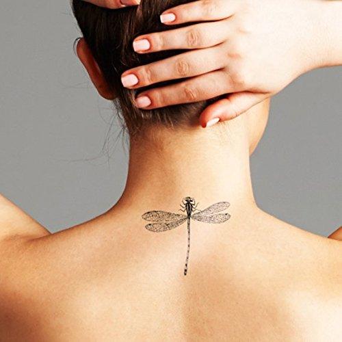 Libellula - Tatuaggio temporaneo (Set di 2)