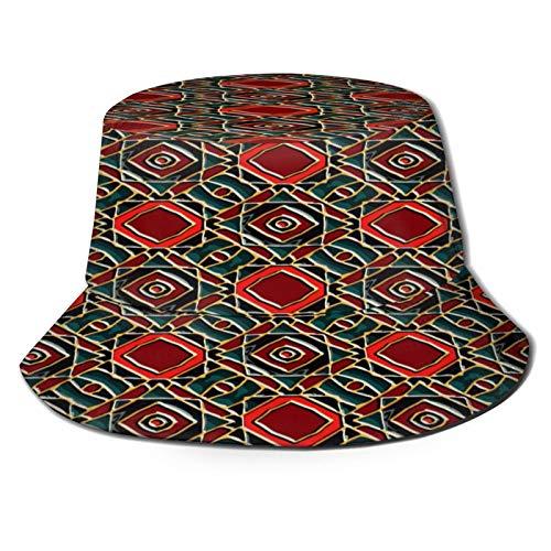 YZBEDSET Cappello da Pescatore Unisex,Smalto vetroso Pattern Abstract Vector Texture,Cappello da Sole Pieghevole Cappello da Pesca Viaggio Spiaggia Esterno Cappellino Fisherman cap Hat