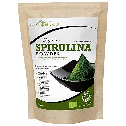 MySuperFoods - Spirulina Bio in Polvere 200g, Fonte Naturale Vegana di Proteine