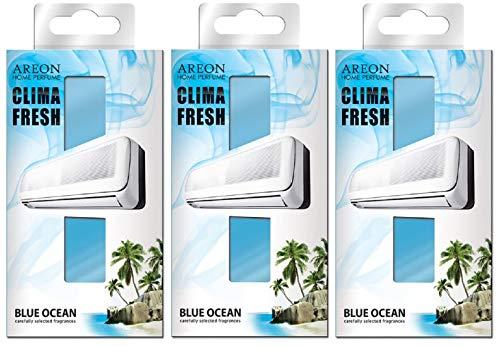 Areon Clima Deodorante Ambiente Oceano Blu Filtri Condizionatori Profumati Casa ( Blue Ocean Set di 3 )