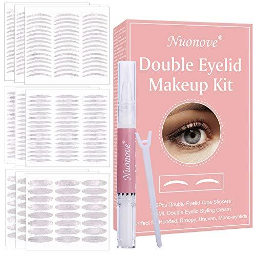 Double Eyelid Tape, Nastro a Doppia Palpebra, Invisibile Nastro Adesivo per Palpebre, Double Eyelid Cream, invisible, Perfetto per Hooded, Droopy, Uneven, Mono-palpebra, 360 Pezzi +5ML Cream