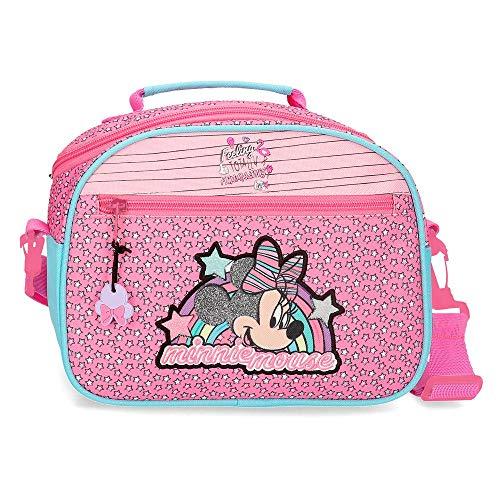 Disney Minnie Pink Vibes Neceser adattabile al trolley con tracolla Rosa 25x19x10 cms Poliestere