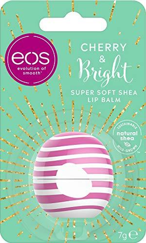 Eos Winter Edition - Balsamo per labbra con gusto ciliegia e ciliegia, idea regalo per Natale