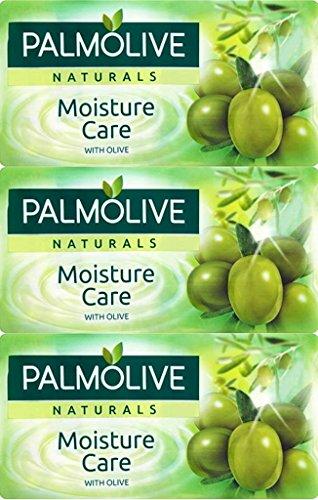 Palmolive, tre confezioni di 3 saponette idratanti all'oliva da 90 g, (etichetta in lingua italiana non garantita)