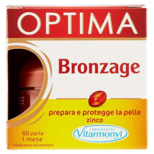 Vitarmonyl OPTIMA BRONZAGE ● Integratore 60 perle ● Prepara e protegge la pelle ● Registrato Ministero Salute Italiano