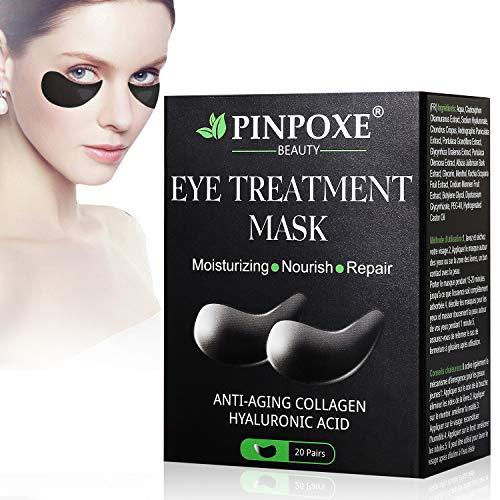 Maschera per gli occhi, Eye Patch, Maschera d'occhio del collagene, Eye Mask, Alghe occhi Pads, Maschere Eye Gel Patches - Idratante, anti-rughe, anti-età, cerchi scuri ed elimina tasche, 20Pairs