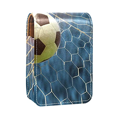 rossetto per esterno Mini borsa Astuccio per cosmetici da viaggio con scatola per rossetto a specchio Calcio a calcio online per i regali delle donne delle donne