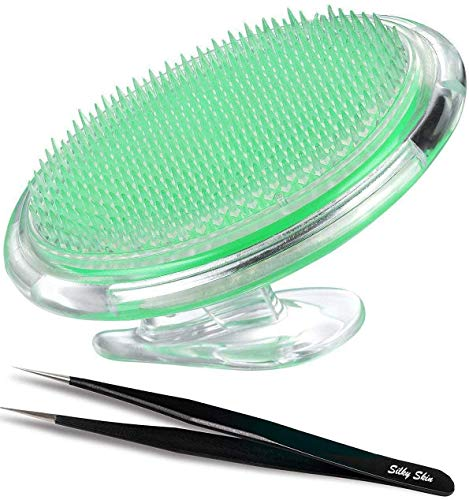 Silky Skin esfoliante pennello per trattare e prevenire urti rasoio e peli incarniti per uomini e donne-eliminare le irritazioni da barba per viso, ascella, gambe, collo, linea bikini