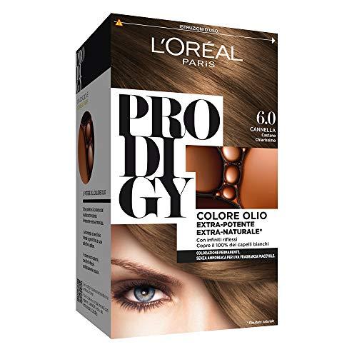 L'Oréal Paris Colorazione Permanente per Capelli Prodigy, 6 Cannella Castano Chiarissimo