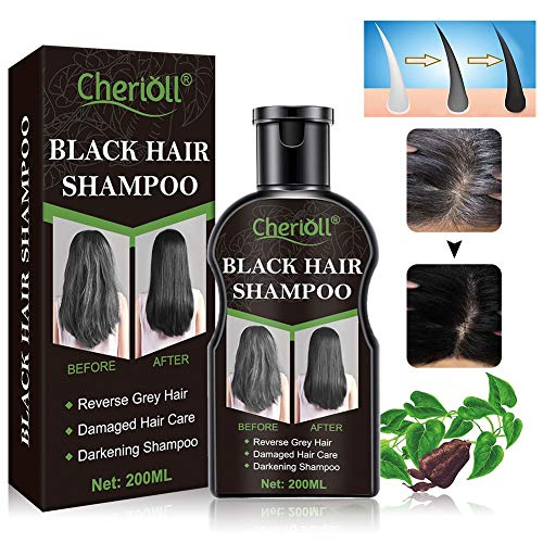 Shampoo Per Capelli neri, Shampoo Per La Drescita Dei Capelli, Shampoo e Balsamo Scurente Naturale Shampoo Capelli Scurente Organico