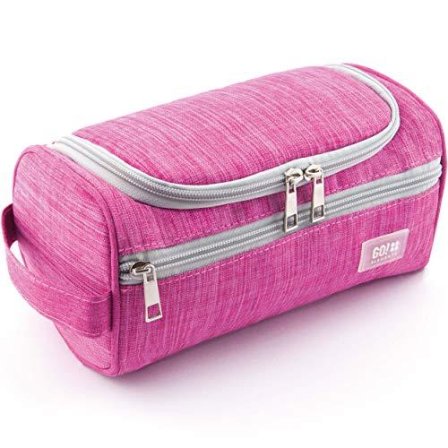 GO!elements® Beauty Case uomo & donna | borsa da toilette per uomini & donne appesi | borsa cosmetica uomo donna per valigie & bagaglio a mano | borsa da viaggio per lavaggio, Color:Rosa