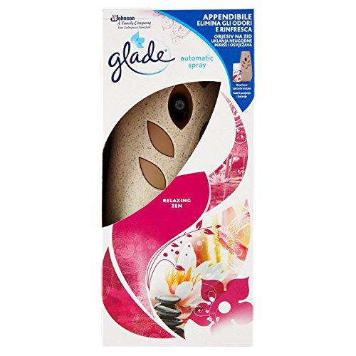 Glade Automatic Spray Base con Ricarica, Deodorante per Ambienti, Fragranza Relaxing Zen – Confezione da 1 Erogatore + 1 Ricarica da 269ml
