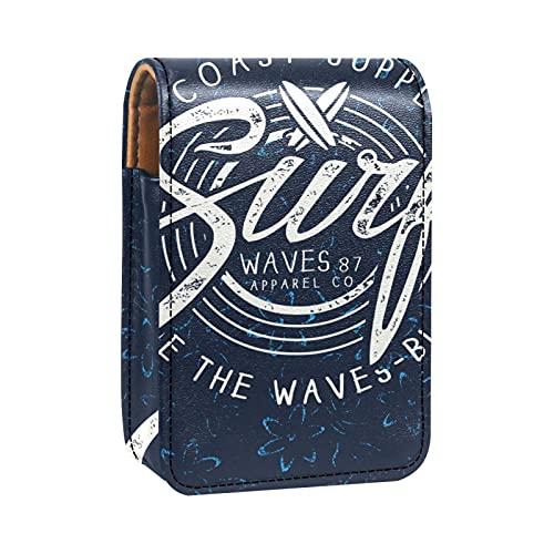Mini Pelle Sacchetto dell'organizzatore del rossetto,surf estivo blu scuro
