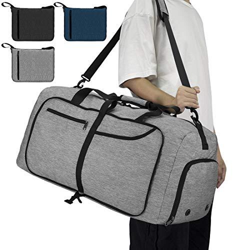 NEWHEY Ultra-Leggero Borsone da Viaggio Impermeabile Borsoni Palestra Pieghevole 65L Grande capacità Duffel Bag Travel per Campeggio Viaggio Palestra Sport Vacanza Uomo e Donna