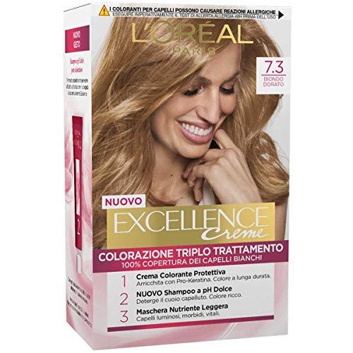 L'Oréal Paris Excellence Tinta Capelli Colore Ricco, 7.3 Biondo Dorato