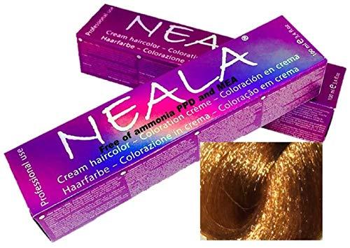 Tintura professionale colorazione per capelli SENZA AMMONIACA, PPD o MEA - 8.4- BIONDO CHIARO RAMATO - NEALA 100ml.