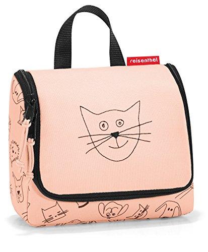 reisenthel Borsa WC S per bambini, Cats And Dogs Rose, 18 cm, Beauty Case da viaggio