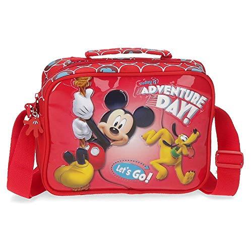 Disney Mickey Adventure Day Neceser adattabile al trolley con tracolla Rosso 22x17x7 cms Poliestere