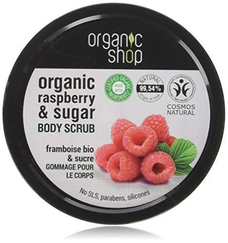 Organico Shop scrub corpo naturale lampone panna e zucchero 250ml