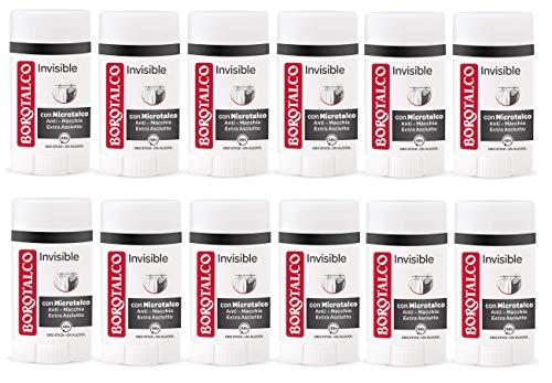 Set 12 BOROTALCO Deodorante Stick 40 Invisible Deodoranti per il corpo