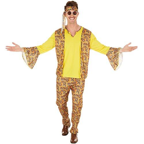 dressforfun Costume da Uomo - Discostar | Il tutto secondo i tipici modelli retro degli anni '60 e '70 | Con Fascia per Capelli (XL | No. 300960)