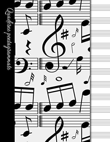 Quaderno pentagrammato: quaderno pentagrammato righe larghe/ 100 pagine/13 pentagrammi per pagina.