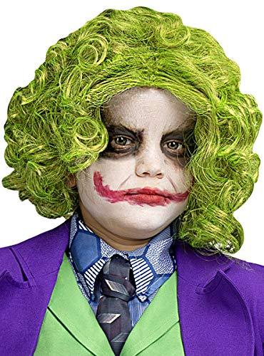 Funidelia   Parrucca di Joker Ufficiale per Bambino ▶ Supereroi, DC Comics, Cattivi - Multicolore, Accessorio per Costume