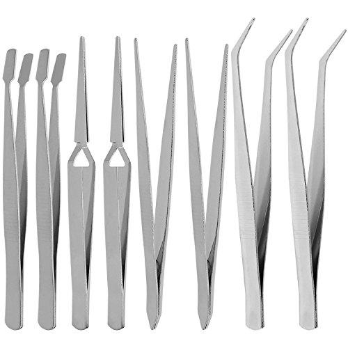 com-four® Set di pinzette industriali Set di 8 Pezzi, pinzetta per Uso Generico per Hobby e Hobby (08 Pezzi - pinzette)